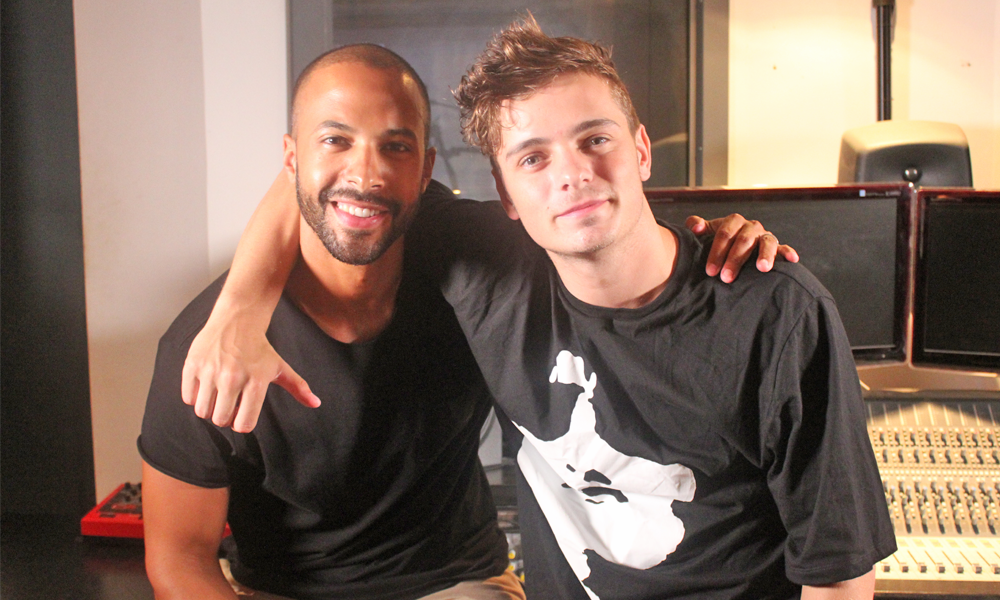 Marvin Humes and Martin Garrix