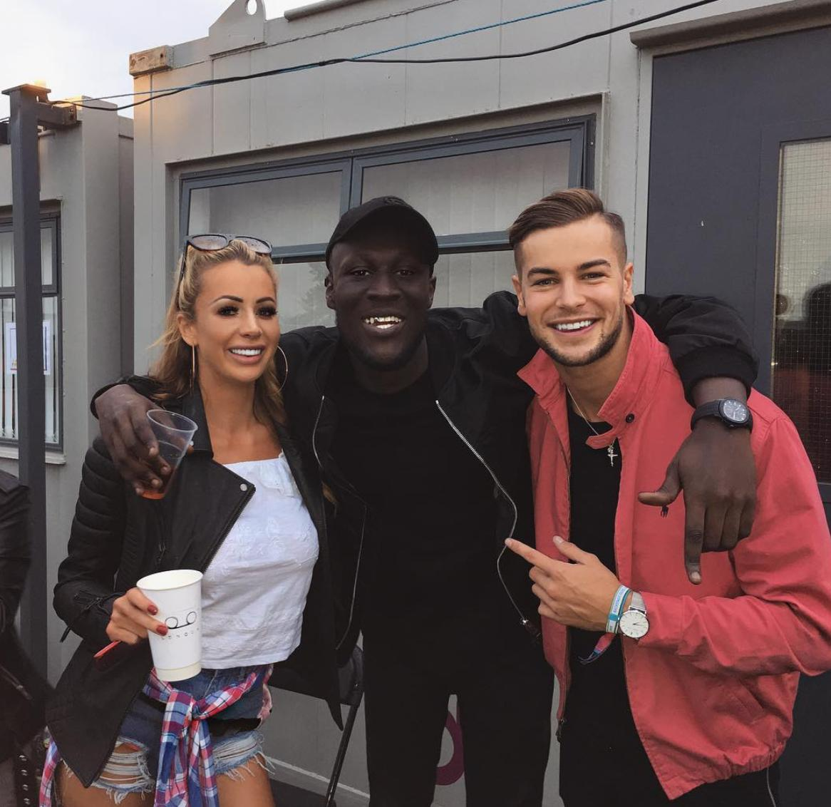 Stormzy, Olivia Attwood and Chris Hughes at V Fest