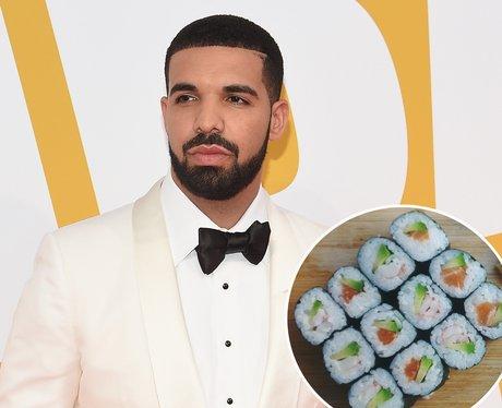 Drake and sushi