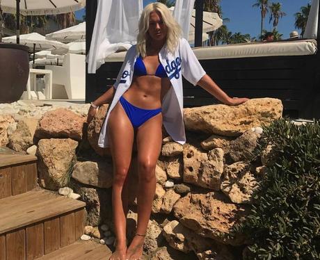 Louisa in a bikini on holiday
