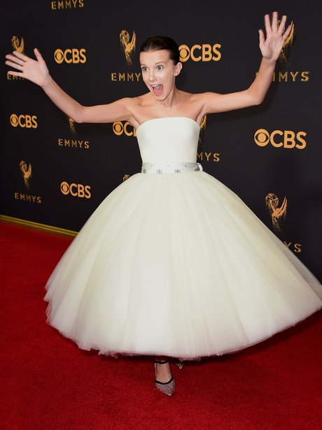 Millie Bobby Brown at the Emmy's