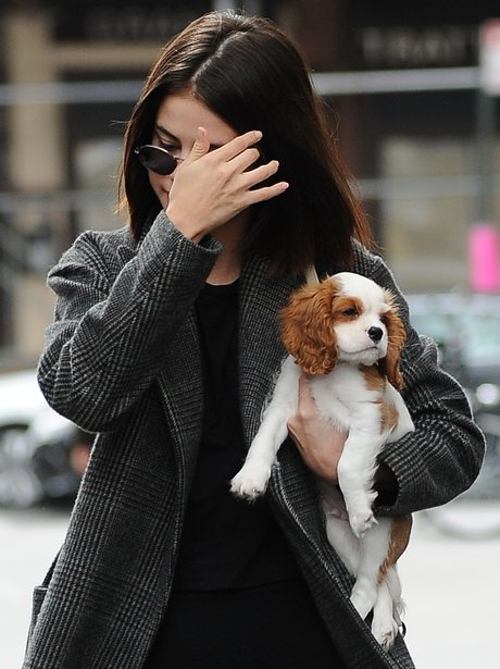 Selena Gomez heads out and about with her new pupp