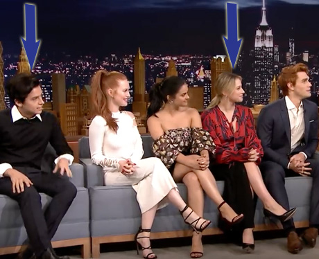 Cole Sprouse and Lili Reinhart Jimmy Fallon