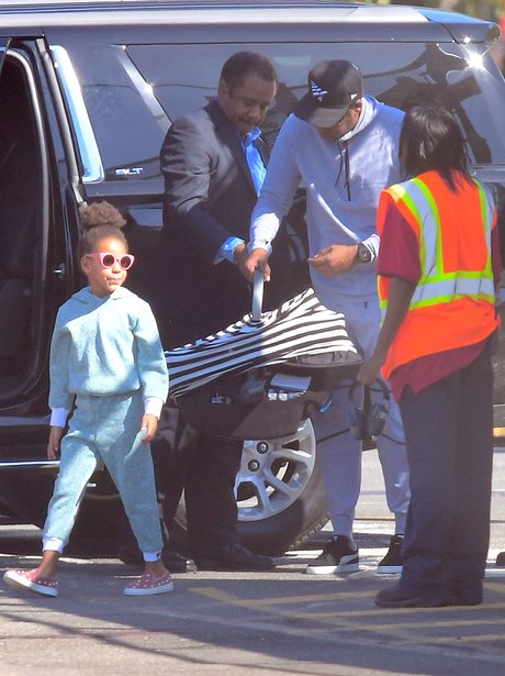 Jay-Z, Beyonce and Blue-Ivy spotted out with Sir &