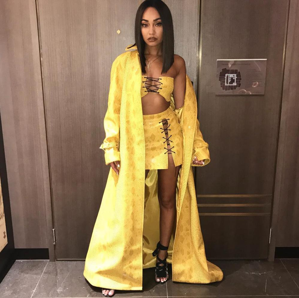 Leigh-Anne Pinnock wears her own design for her bi