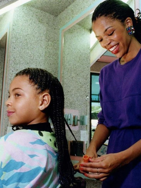 Beyonce looks just like Blue-Ivy when she was youn