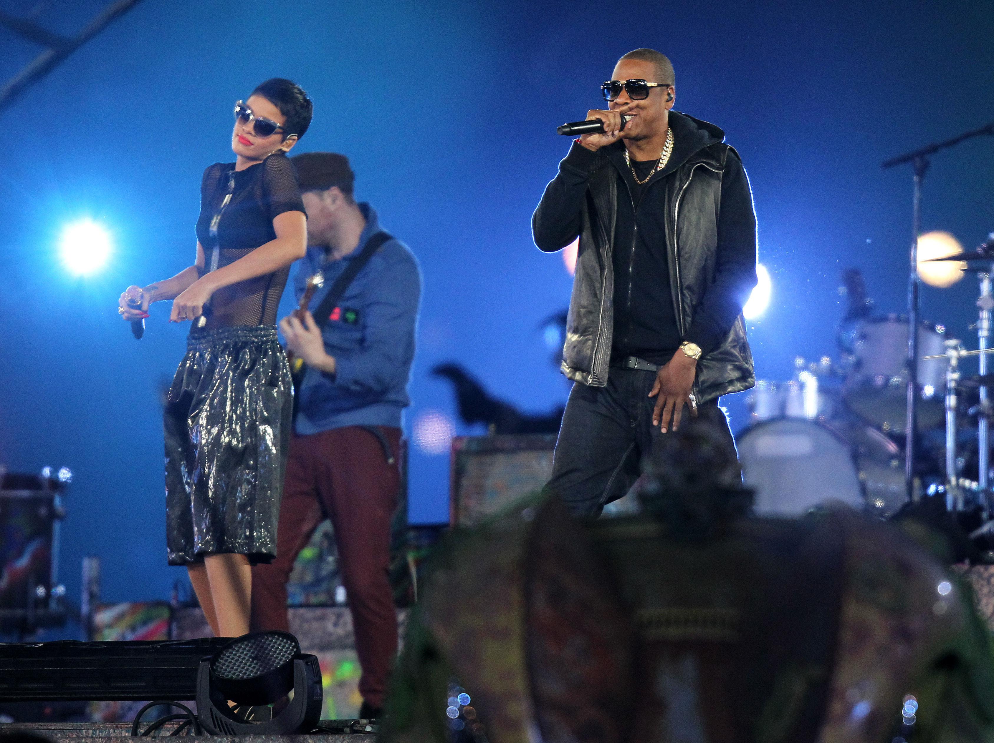 Jay Z Rihanna Paralympic Games 2012