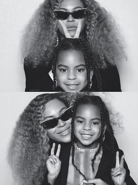 Beyonce and Blue-Ivy twinning it