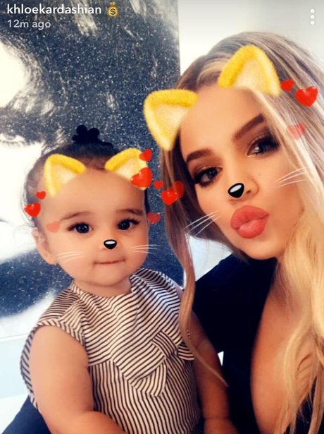 Khloe Kardashian spends time with baby Dream