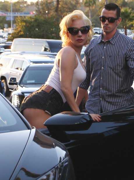 Lady Gaga makes looking getting into a car sexy