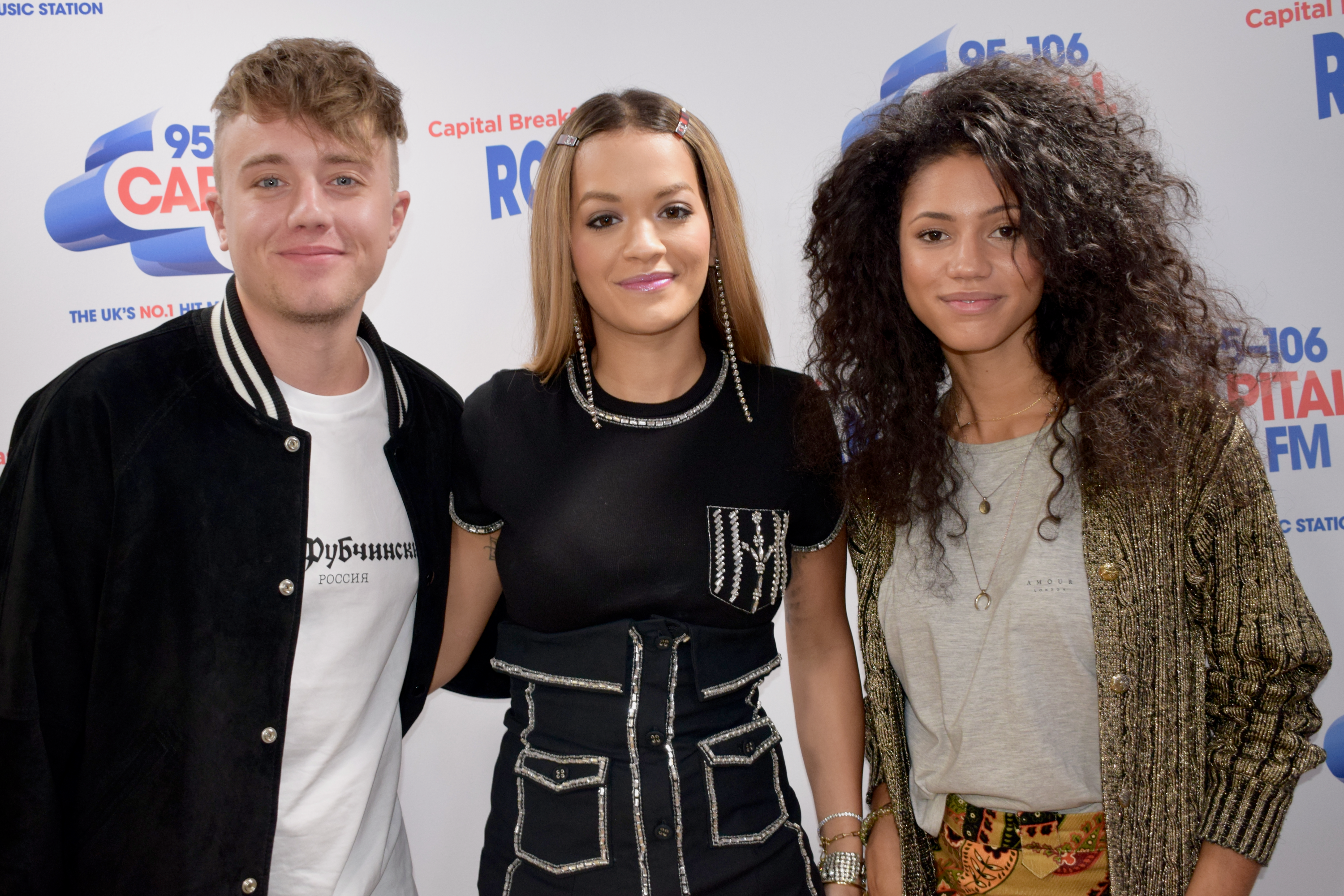 Rita Ora Capital Breakfast w/ Roman Kemp and Vick