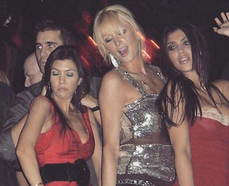 Kim & Kourtney Kardashian Party With Paris Hilton