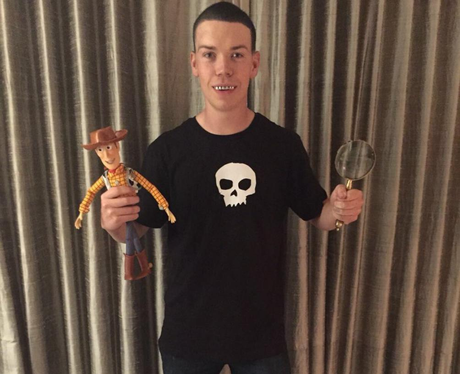 Will Poulter Dresses Up As Sid From Toy Story