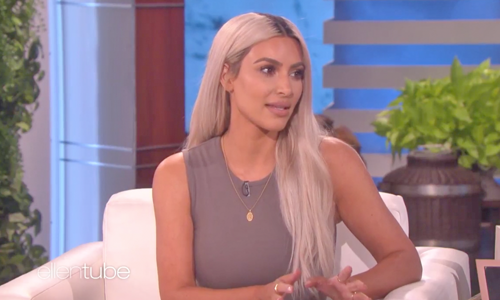 Kim Kardashian On Ellen