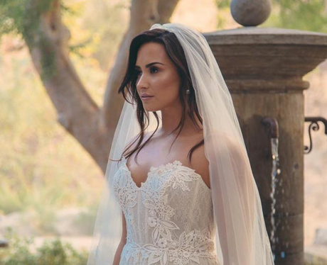 Demi Lovato wedding dress