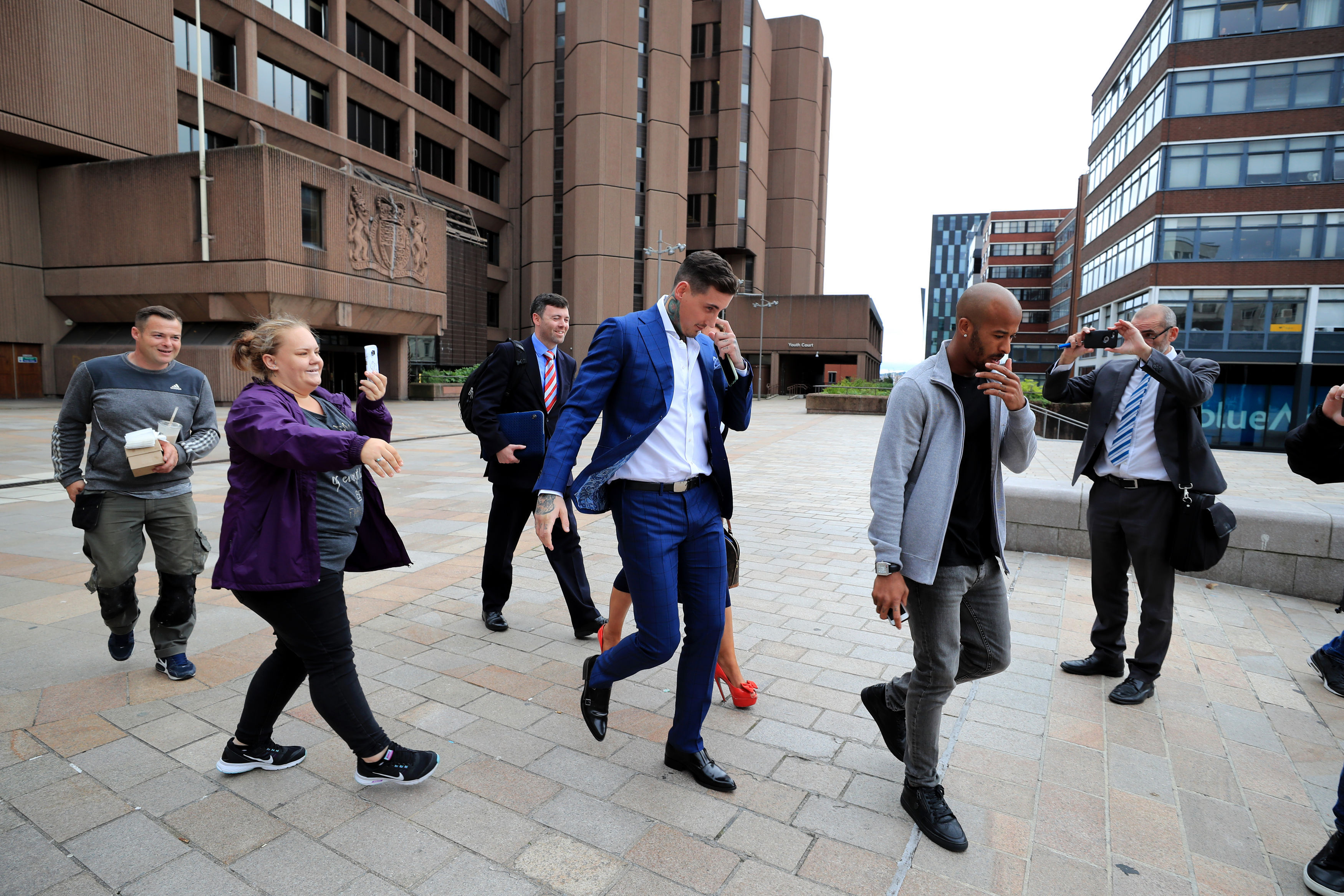 Jeremy McConnell leaving Liverpool Magistrates Cou