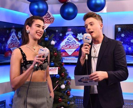 Dua Lipa Backstage Jingle Bell Ball 2017