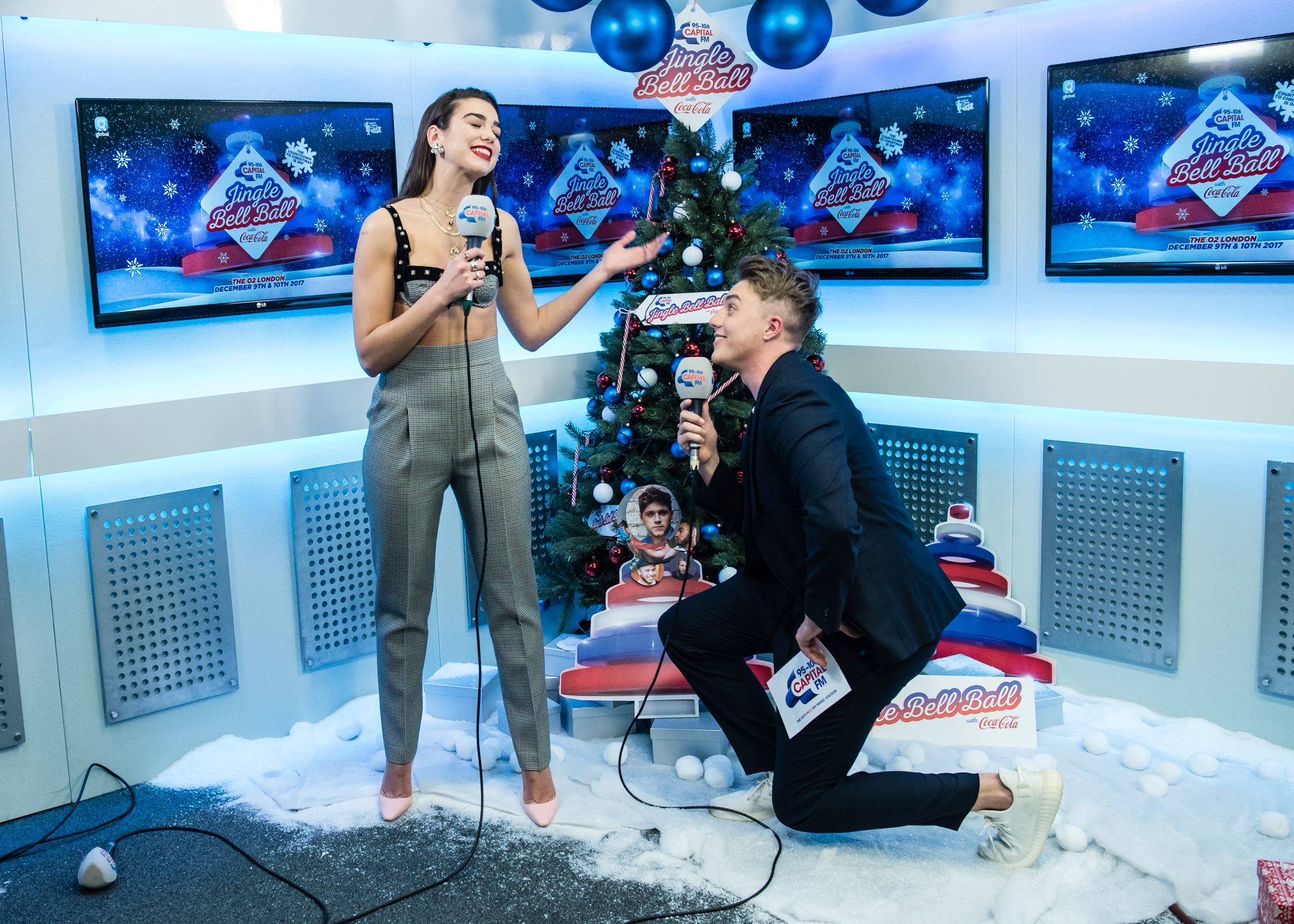 Dua Lipa with Roman Kemp