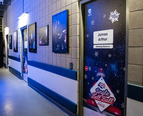 James Arthur Jingle Bell Ball 2017 dressing room