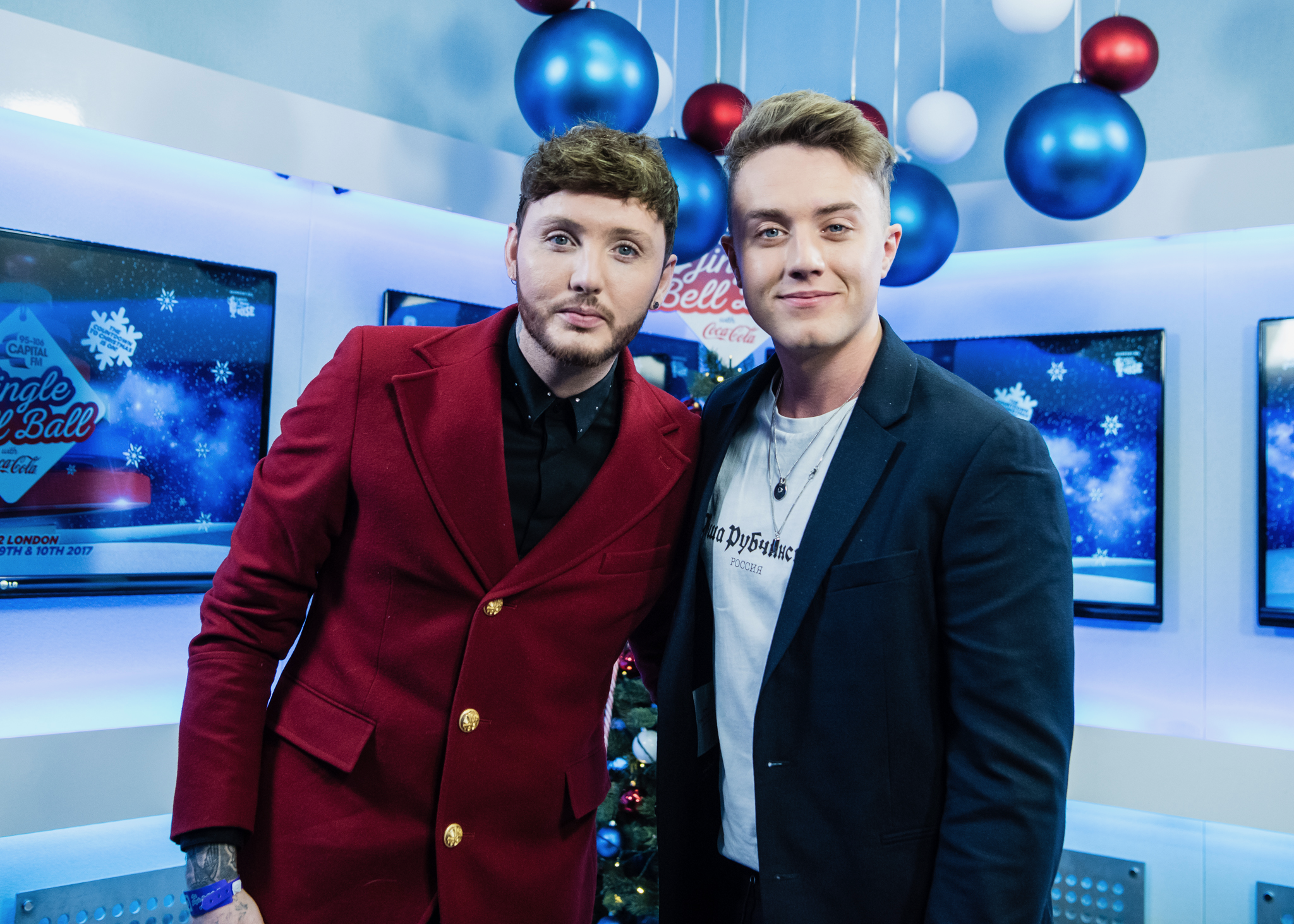 James Arthur with Roman Kemp