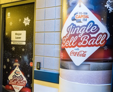 Major Lazer Jingle Bell Ball 2017 dressing room