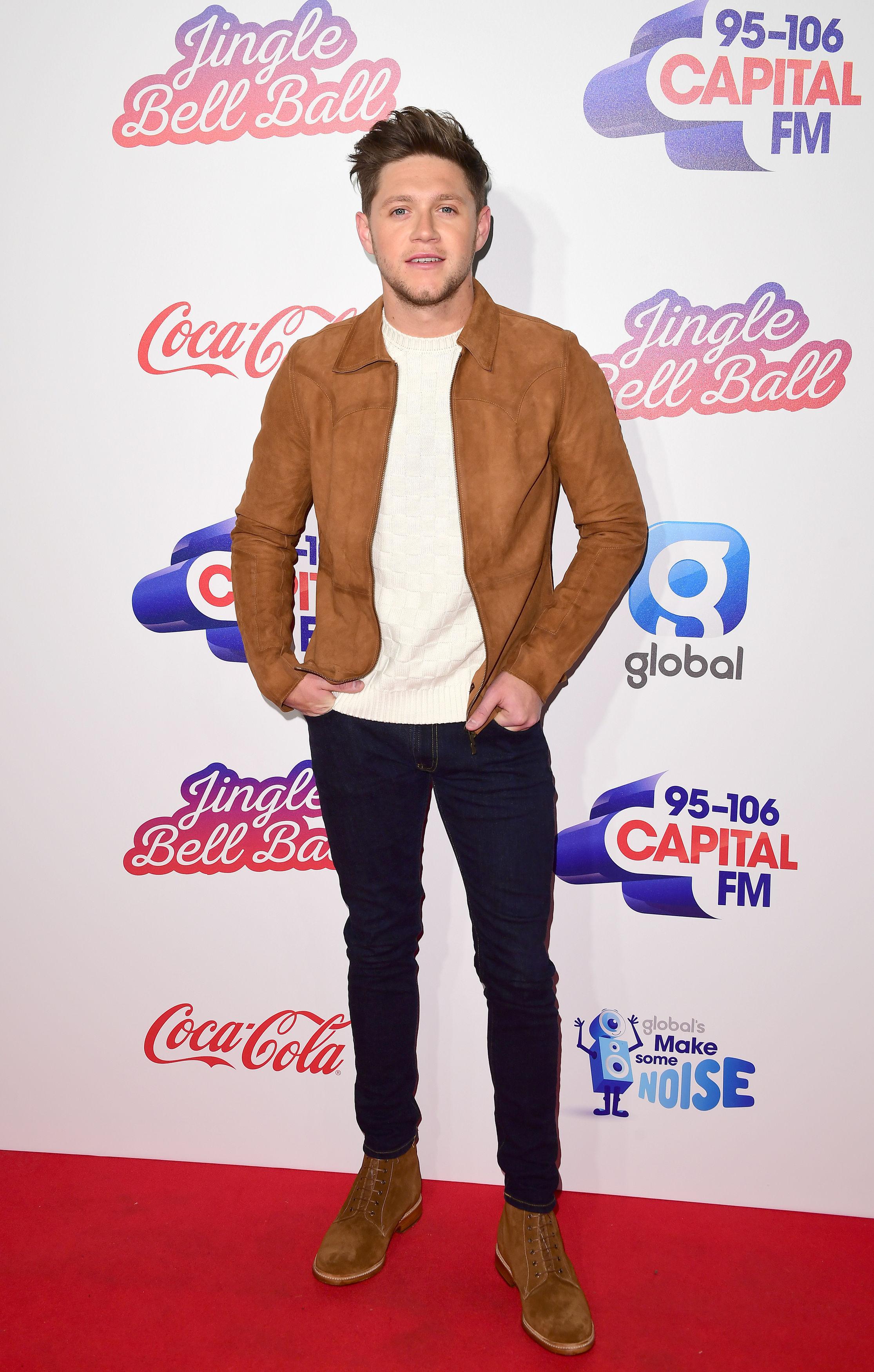 Niall Horan Jingle Bell Ball 2017 red carpet