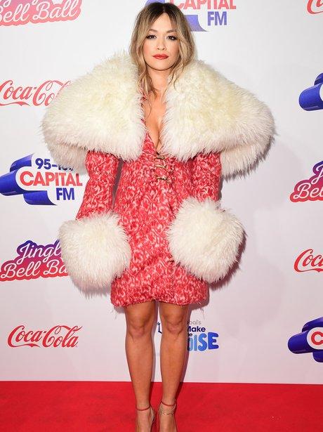 Rita Ora Red Carpet Jingle Bell Ball 2017