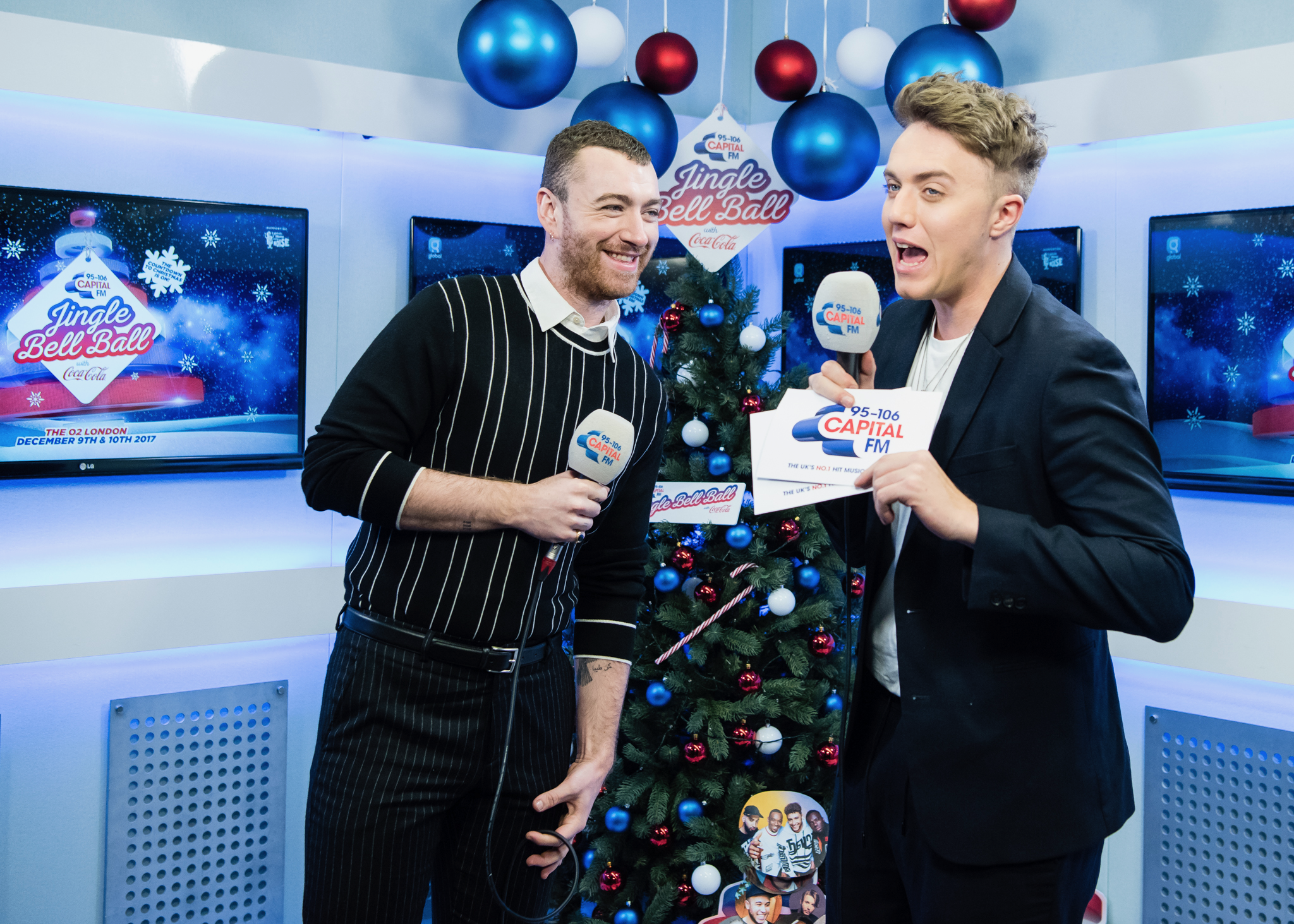 Sam Smith with Roman Kemp