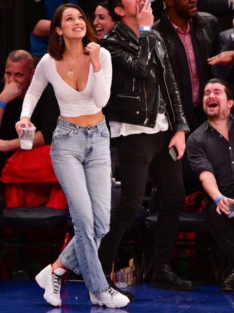 Bella Hadid was having the time of her life at a