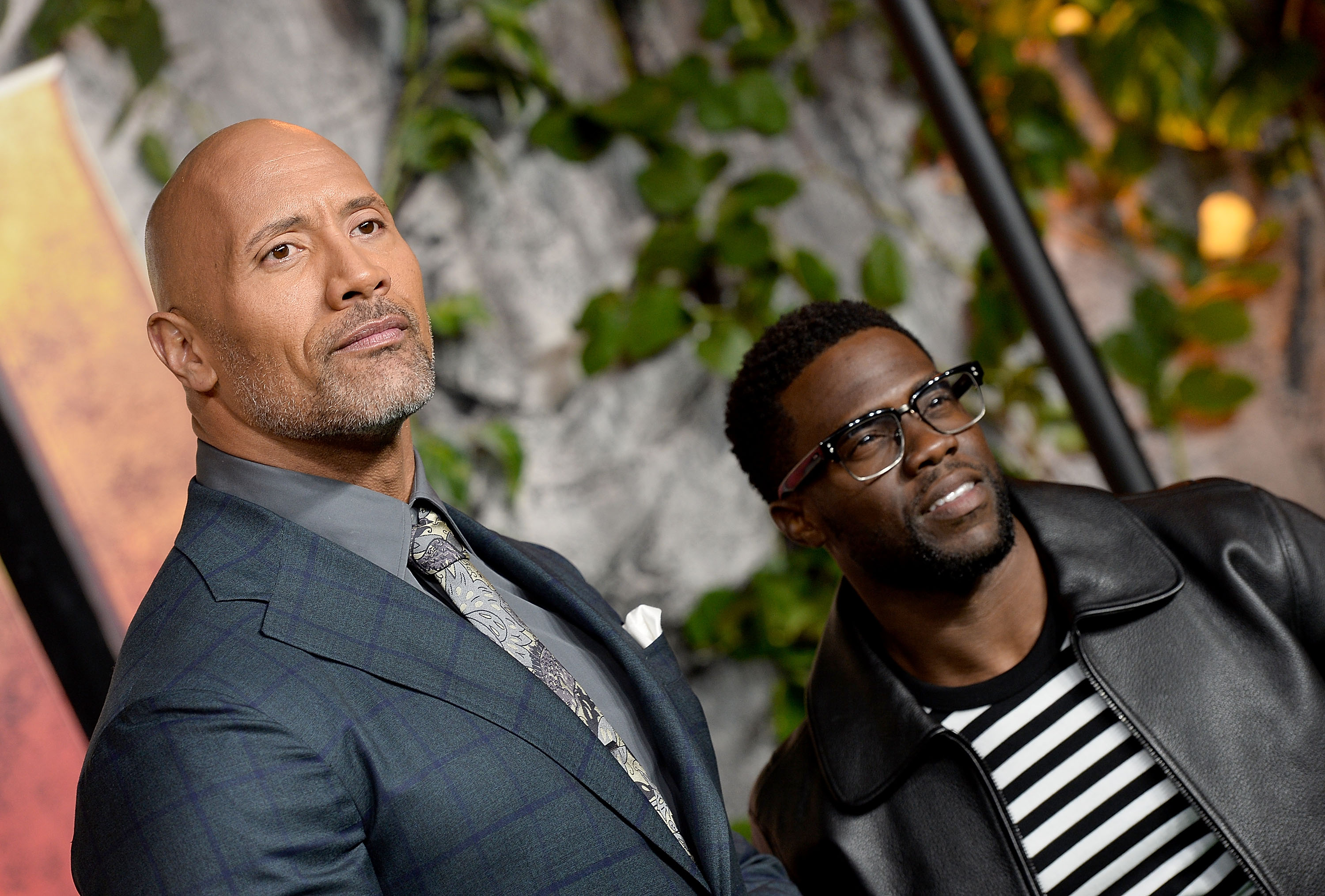 Dwayne Johnson and Kevin Hart Jumanji UK Premiere