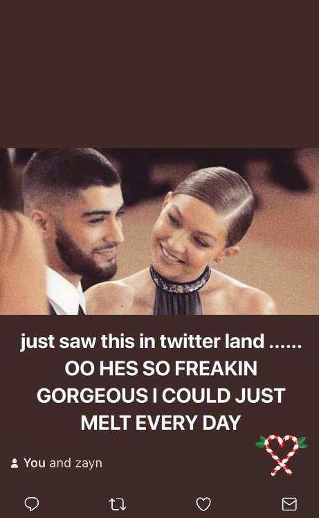 Gigi Hadid on boyfriend Zayn Malik