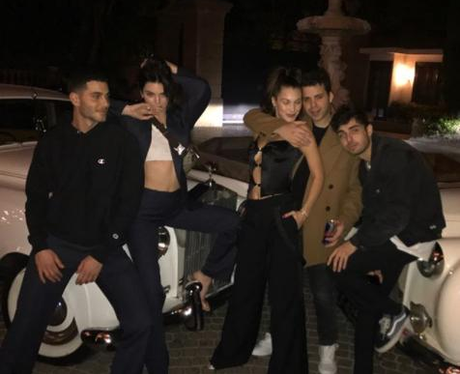 Kendall Jenner, Bella Hadid and friends