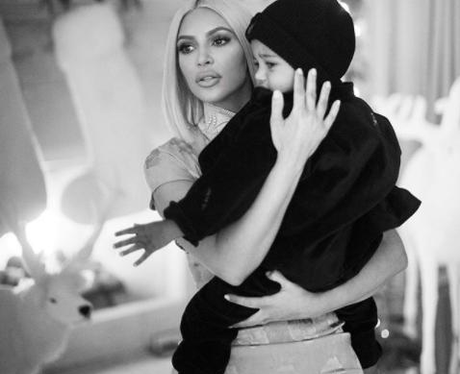 Kim Kardashian and Saint