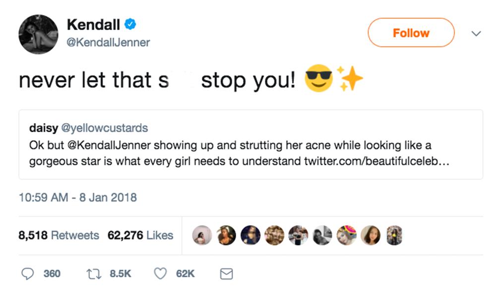 Kendall Jenner tweet