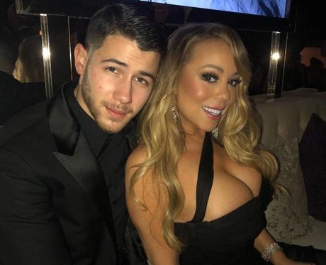 Nick Jonas and Mariah Carey