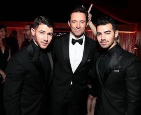 Nick Jonas, Hugh Jackman and Joe Jonas