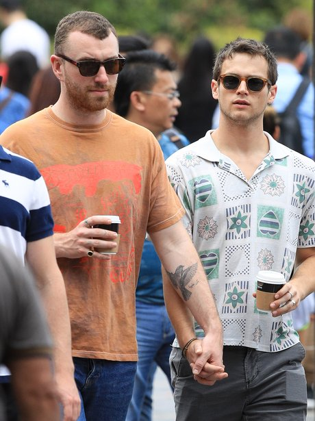 Sam Smith and Brandon Flynn ring