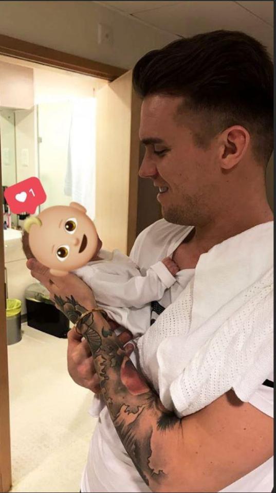 Gaz Beadle's Newborn Son