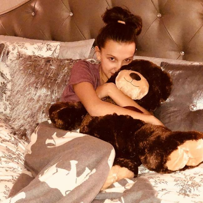 Millie Bobby Brown Jacob Sartorius Relationship Teddy Bear Present Instagram