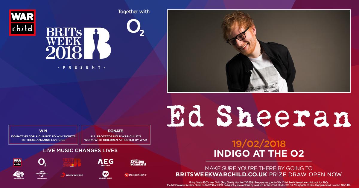 Ed Sheeran War Child Gig