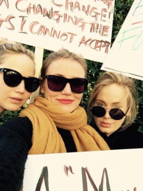 Jennifer Lawrence, Cameron Diaz and Adele