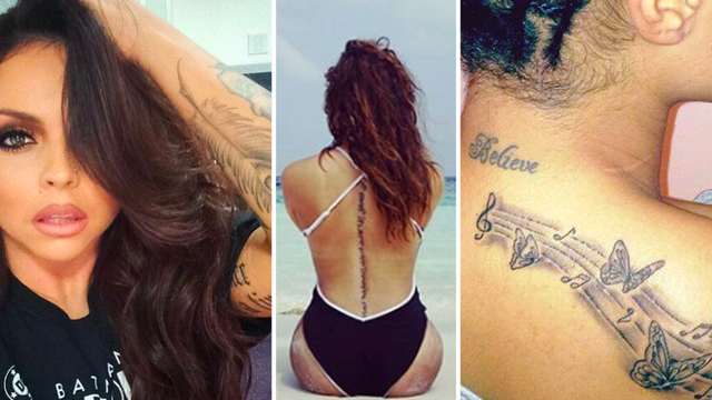 Little Mix Tattoo Guide Perrie Edwards Jessie Nelson Leigh Anne