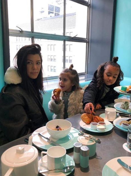 Kourtney Kardashian babysitting