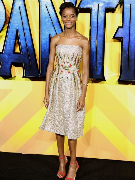 Letitia Wright Black Panther premiere