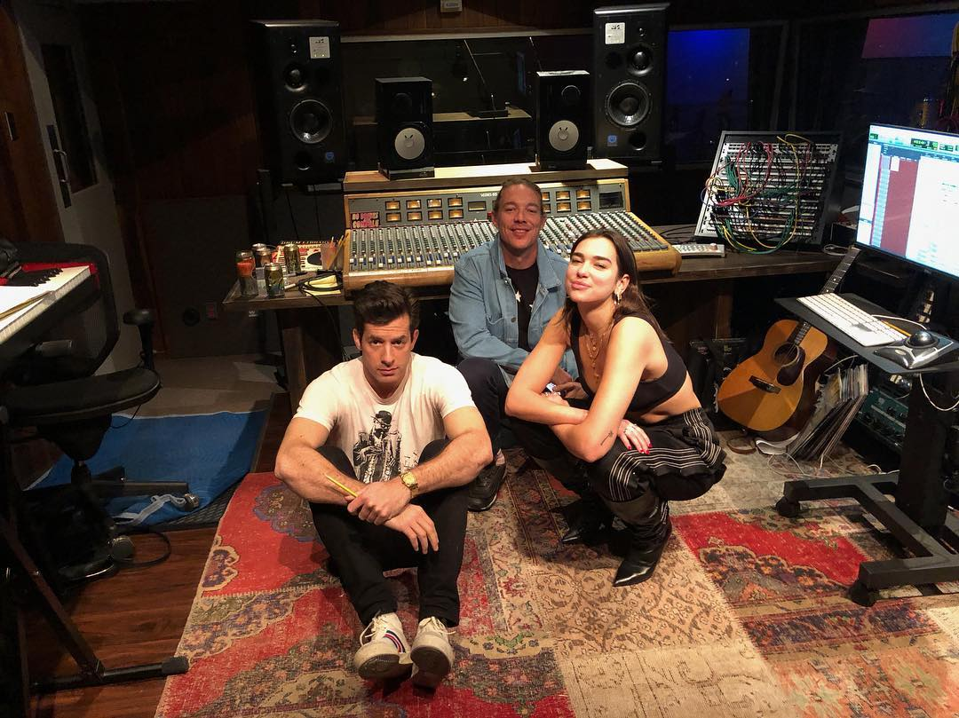 Dua Lipa, Mark Ronson and Diplo Instagram