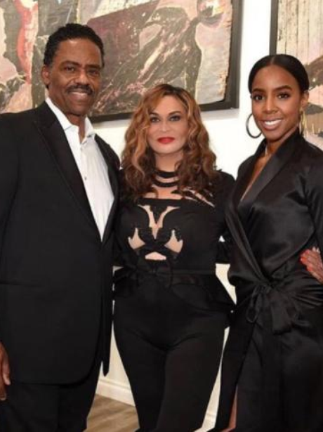 Kelly Rowland, Tina Lawson and her husband