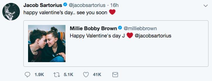 Millie Bobby Brown and Jacob Sartorius
