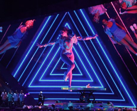 Dua Lipa on stage BRIT Awards 2018