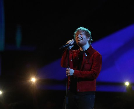 Ed Sheeran on stage BRIT Awards 2018