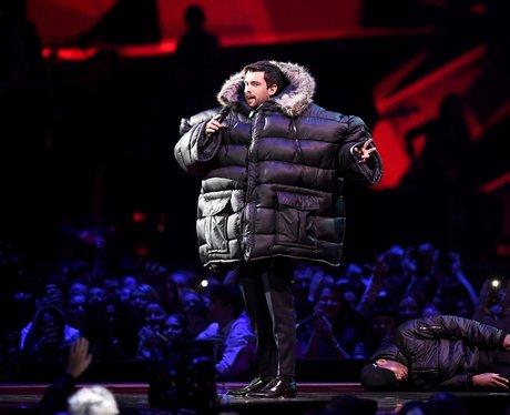 Jack Whitehall on stage BRIT Awards 2018